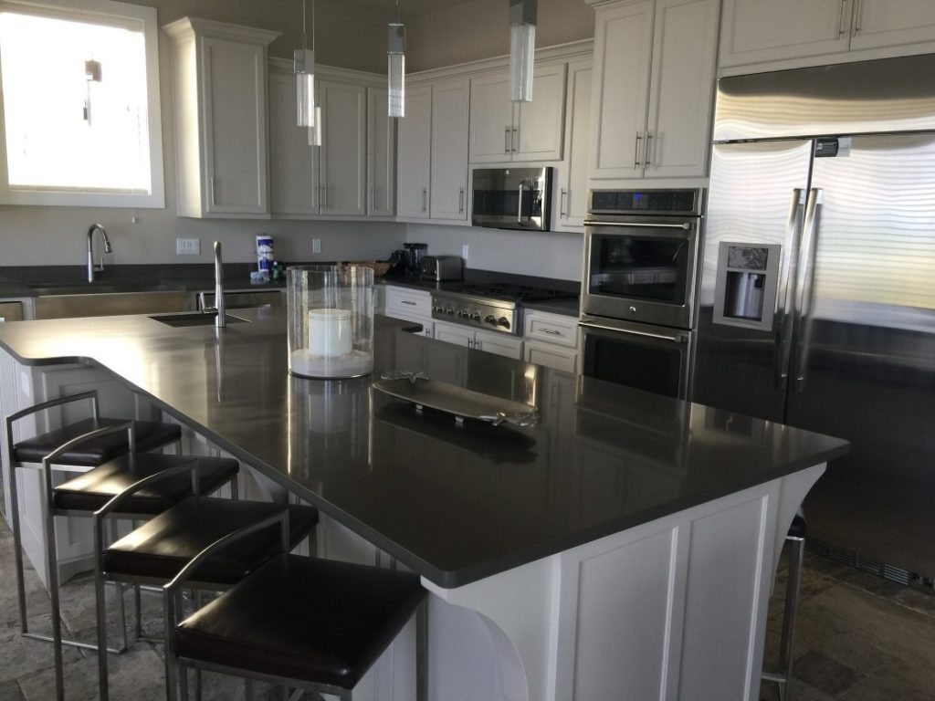 metallic countertops