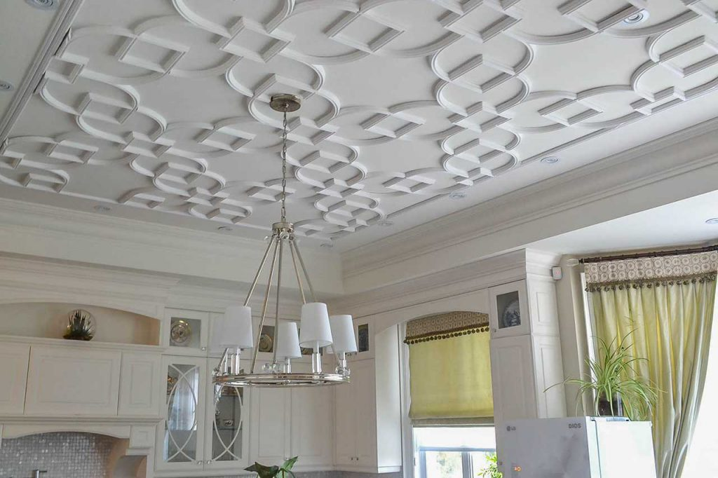 modern patterned ceiling