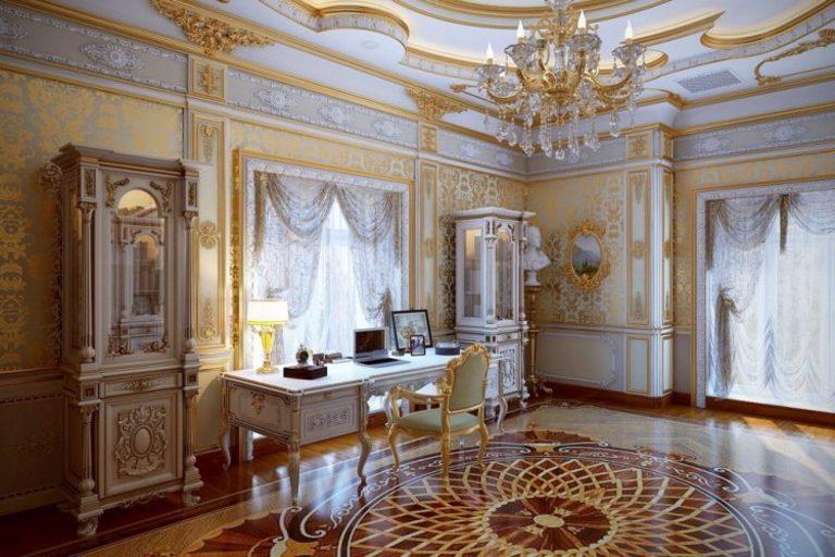 neoclassical baroque wallpaper