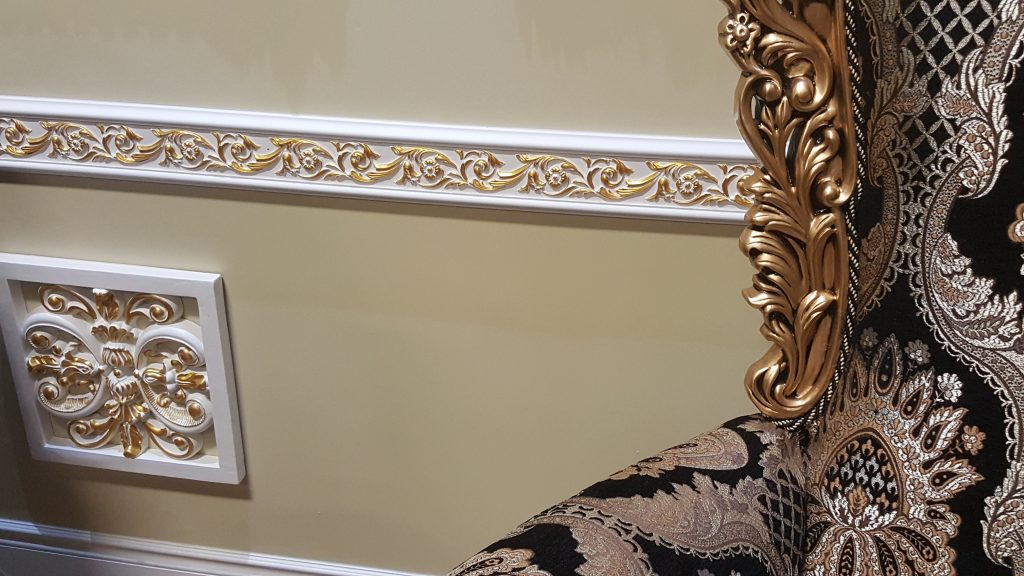 ornate chair rail