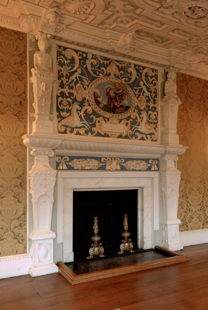 ornate fireplace